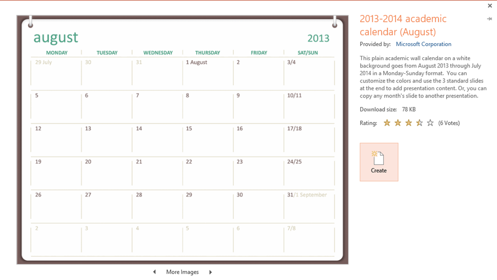 PowerPoint: How to insert an monthly calendar? | Tips and ...